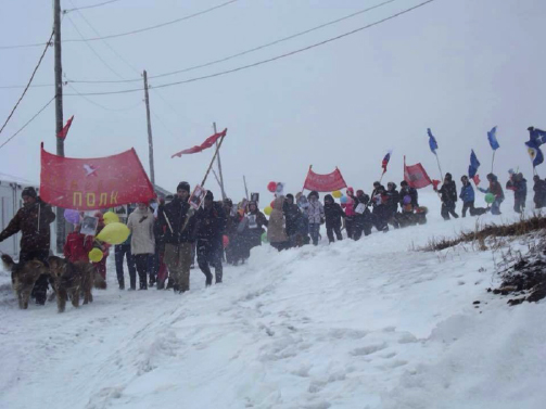 hardy marchers in yakutia